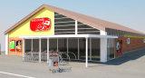 Costruzione prefabbricata del supermercato della struttura d'acciaio (KXD-pH34)