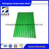Kundenspezifisches gewölbte Farben-überzogenes Stahldach-Blatt für Baumaterial