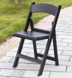 Vinil preto cadeira de dobradura acolchoada