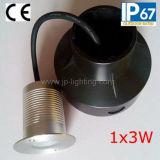 갑판 점화 (JP820212)를 위한 방수 3W 크리 사람 LED 지하 빛