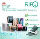 Rpm-145 blanco suave material de BOPP para el escritorio etiquetas imprimibles