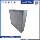 Filtre à fibres de verre à bride pour purification de l'air