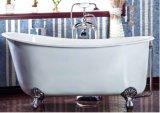 Vasca di bagno classica bianca del pistone del ghisa