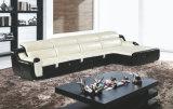 Sofá de cuero moderno, L sofá del Recliner de la dimensión de una variable (GB08)