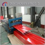 Hoja de acero revestida del material para techos del color acanalado de SGCC