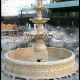 Fontana di pietra di marmo Mf-1032 dell'oro del deserto della fontana del granito
