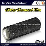 Черный автомобиль яркия блеска оборачивая пленку винила PVC