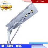 IP65 6W-120W 정원 옥외 도로 통합 태양 LED 가로등