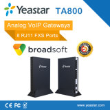 Passagem do Analog dos portos FXS VoIP de Yeastar Neogate 8
