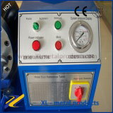 油圧ゴム製ホースのひだが付く機械