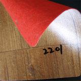 Plancher non tissé en bois de PVC de couleur