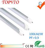 형광등 150lm/W 1.2m 18W T8 LED 관 빛을 대체하십시오