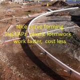 Bürgersteig-Plastikverschalung-Arbeit schneller, Kosten weniger, Leichtgewichtler, Garten-Plastikverschalung