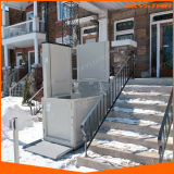 Elevador vertical interno e ao ar livre da cadeira de rodas