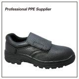 Zapatos de seguridad escotados del soldador del cuero genuino