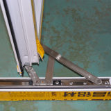 Finestra di alluminio della stoffa per tendine di profilo di colore di alta qualità della rottura termica rivestita bianca della polvere con la multi serratura K03040