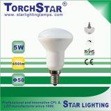 알루미늄 플라스틱 열 싱크 5W E14 LED R50 스포트라이트