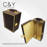 Caixa de empacotamento do vinho preto de madeira luxuoso