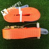 100% Polyester Orange Cargo Lashing Strap