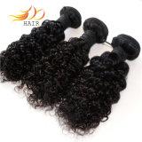 Colore naturale dei capelli di Remy dei Peruvian della trama 100% dei capelli dell'arricciatura del Jerry