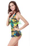 Reizvolles gedrucktes einteiliges Swimwears für Frauen