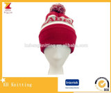 حارّ يبيع جذّابة جاكار شتاء قبعة مع [بوم] [بوم]