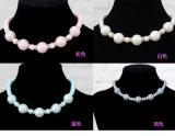 Colliers de Jwellery d'animal familier de perle de qualité pour la beauté Groomings de crabot