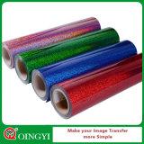 Vinyle facile de transfert thermique d'hologramme de Weed de prix de gros de Qingyi pour le tissu