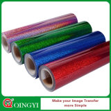 Qingyi 도매가 직물을%s 쉬운 위드 홀로그램 열전달 비닐