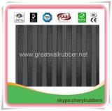 Geribbeld RubberBlad, de RubberMat van de Vloer met ISO9001, de Certificaten van het Bereik
