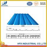 Hoja revestida azul del material para techos de Ral 5015 Ibr