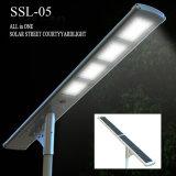 Sistema ligero al aire libre solar ahorro de energía de poste de iluminación del jardín de la lámpara