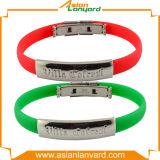 Изготовленный на заказ браслет силикона металла способа