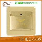 O padrão britânico Dourado-Moldou um interruptor da parede do grupo 16A