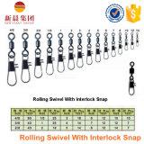 High Strngth Rolling Swivel com segurança Snap Fishing Swivel
