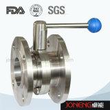 Vanne papillon ronde manuelle sanitaire de traitement d'acier inoxydable (JN-BV1001)