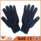 PVC поставил точки связанные работая перчатки работы хлопка перчаток