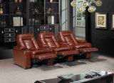 Sofa électronique en cuir moderne de Recliner (YA-606A)