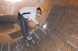 Rivestimento refrattario rendente incombustibile della maglia Hex per i contenitori in pressione