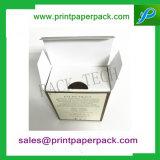 Kundenspezifisches überlegenes Luxuxpapiergeschenk-faltender Kasten mit Kurbelgehäuse-Belüftung/Haustier-/Pappeinlage für Kosmetik/Duftstoff/Skincare