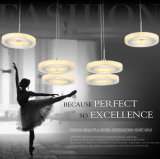 Cristal ligero elegante de la lámpara LED Chanderlier de Decoractive de la sala de estar