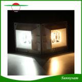 Lumière solaire solaire extérieure de frontière de sécurité de la lampe de mur d'éclairage 4 DEL avec le détecteur de mouvement de PIR