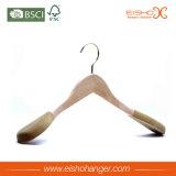 Eisho Manteau en bois naturel personnalisé avec pendentif en velours