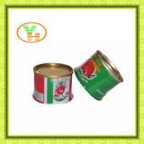 Usine en boîte Gino, tomates, nourriture en boîte de sauce tomate
