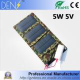 крен силы батареи 5V 5W портативный складывая солнечный поручая мешок для телефона