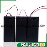 2AA Batteriehalterung mit den roten/schwarzen Leitungen, Deckel und Schalter