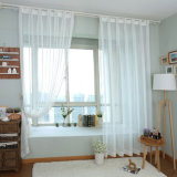 Tela escarpada pura de lino de la cortina del algodón de la alta calidad