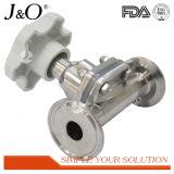 Válvula de diafragma pneumática sanitária do aço inoxidável de produto comestível