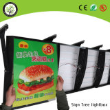 LED fast food menu board alumínio slim light box