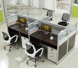 現代L形の事務机のオフィスの区分(Hx-Ncd376